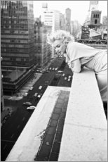 Wood print  Marilyn Monroe in New York - Celebrity Collection