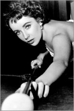 Gallery print  Elizabeth Taylor at billiards - Celebrity Collection