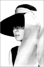 Premium poster  Audrey Hepburn in hat - Celebrity Collection