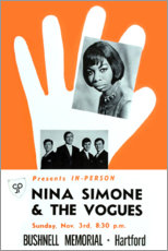 Premium poster Nina Simone & The Vogues