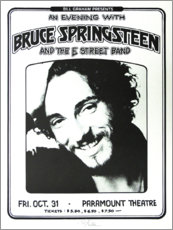Foam board print  Bruce Springsteen - E Street Band - Entertainment Collection