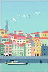Premium poster Illustration of Porto