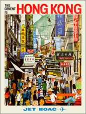 Foam board print  Hong Kong - Jet BOAC - Travel Collection