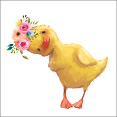 Wood print  Spring duckling - Kidz Collection