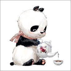 Premium poster  Tea time with panda - Kidz Collection