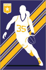 Wood print  Basketball 35 - Bo Lundberg