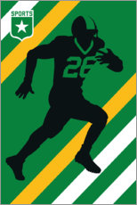 Canvas print  American Football 26 - Bo Lundberg