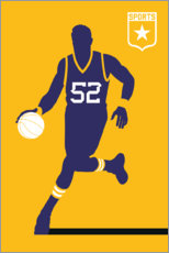 Wood print  Basketball 52 - Bo Lundberg