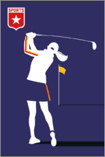 Foam board print  Golf - Bo Lundberg