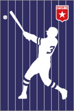 Wall sticker  Baseball 3 - Bo Lundberg