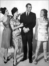 Canvas print  Eunice Gayson, Zena Marshall, Sean Connery, Ursula Andress