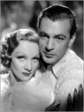 Canvas print  Marlene Dietrich and Gary Cooper