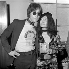 Canvas print  Yoko Ono and John Lennon