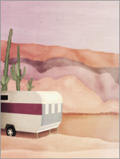 Premium poster Caravan in the desert