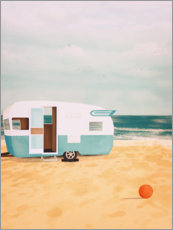 Foam board print  Caravan by the Sea - Sybille Sterk