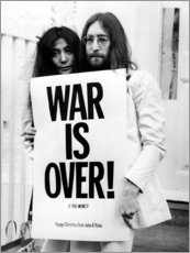 Aluminium print  Yoko & John - War is over!
