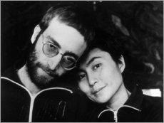 Canvas print  John Lennon and Yoko Ono