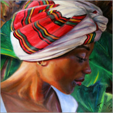 Canvas print  Pet with Ethiopian headscarf - Jonathan Guy-Gladding