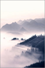 Premium poster Misty mountains