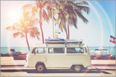 Canvas print  Camper under the Palm Trees - Sisi And Seb