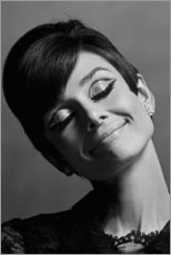 Aluminium print  Audrey smiling - Celebrity Collection