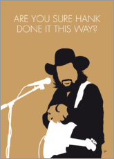 Premium poster Waylon Jennings - Are You Sure Hank Done It This Way?