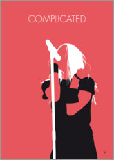 Premium poster No262 MY Avril Lavigne Minimal Music poster