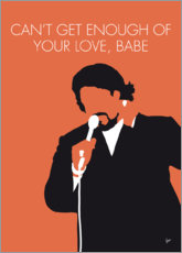 Premium poster No263 MY Barry White Minimal Music poster