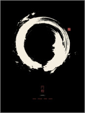Canvas print  Enso - Japanese zen circle II - Thoth Adan