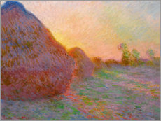 Premium poster  Haystacks - Claude Monet