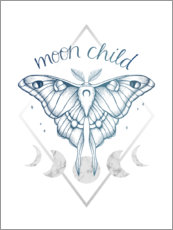 Foam board print  Moon Child - Barlena