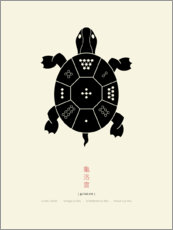 Aluminium print  The Lo Shu Turtle - Thoth Adan