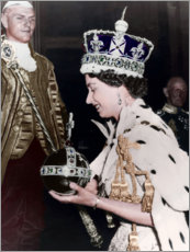 Premium poster Queen Elizabeth II after her coronation