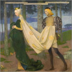 Gallery print  The Queen and the Page - Marianne Stokes
