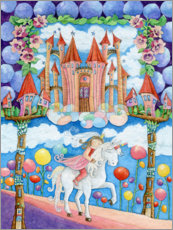 Acrylic print  Princess and the unicorn in the magic land - Atelier BuntePunkt