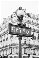 Premium poster Metro in Paris