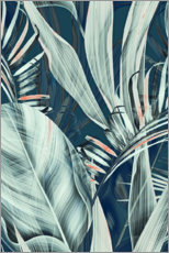 Aluminium print  Palm leaves collage - Art Couture