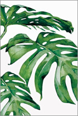 Premium poster Green leaves I