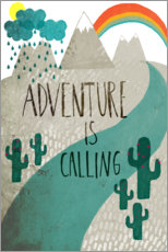 Premium poster The adventure is calling