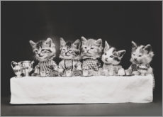 Gallery print  Kitten at the table, vintage