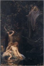 Wood print  Fairies at the source - Maximilian Pirner