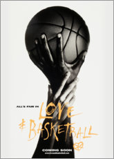 Wood print  Love & Basketball - Advertising Collection