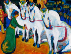 Gallery print  Circus horses dressage - Ernst Ludwig Kirchner