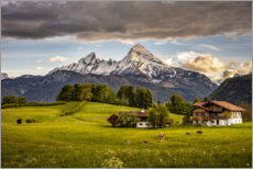 Wall sticker  Idyllic landscape at Watzmann - Fotomagie