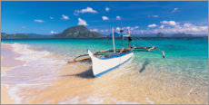 Premium poster Fishing boat on the beach