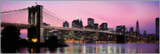 Canvas print  Brooklyn Bridge at dusk