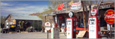 Aluminium print  Gas station on Route 66