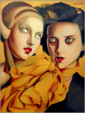 Premium poster  The orange scarf - Tamara de Lempicka