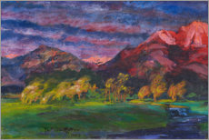 Gallery print  Promontory landscape in the sunset - Julius Exter