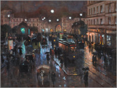 Premium poster  The Stachus in Munich at night - Charles Vetter